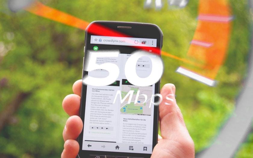 debits internet mobile 4g