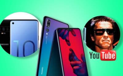 Le Galaxy S10 a un écran troué Infinity-O, le Huawei P20 reçoit Android Pie et YouTube diffuse gratuitement des centaines de films.
