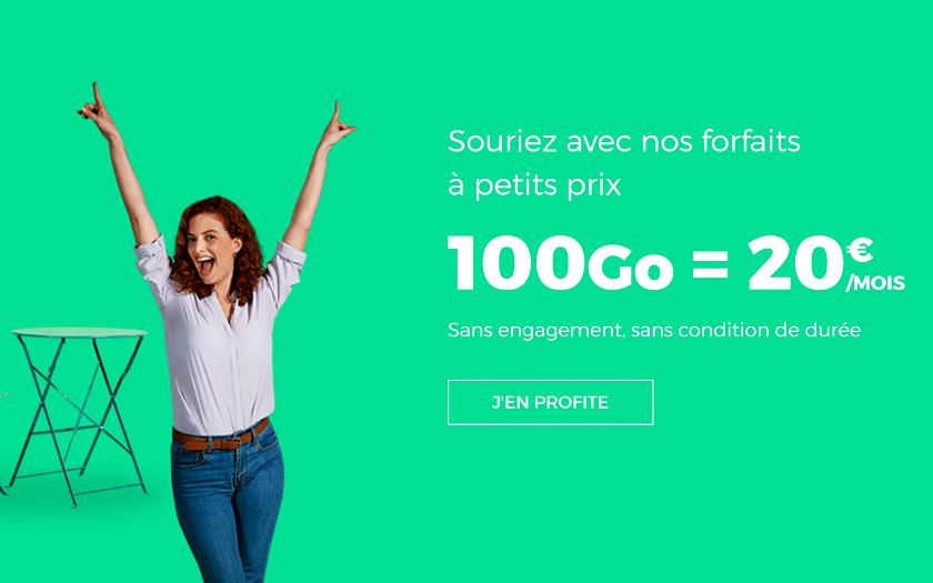 forfait sfr red 100 Go a 20 euros