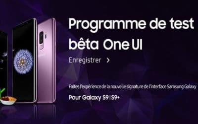 galaxy S9 beta samsung one UI disponible france