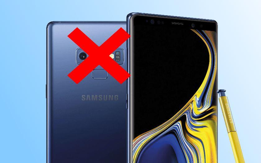 Galaxy Note 9 certains utilisateurs rencontrent un bug qui bloque l'appareil photo