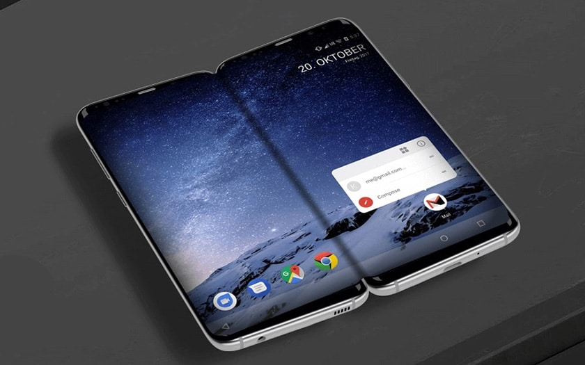galaxy x smartphone pliable samsung