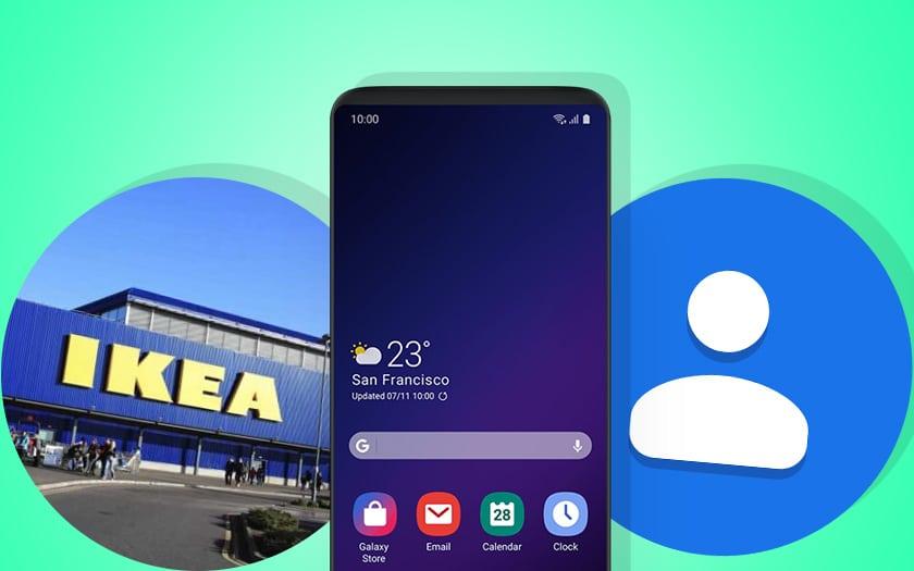 ikea va lancer des stores connectés, le galaxy S10 moins cher se révèle et le mode sombre de Google Contacts est disponible dans un APK