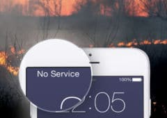 incendie californie smartphone