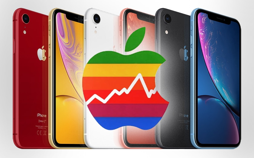 iphone xr apple bourse