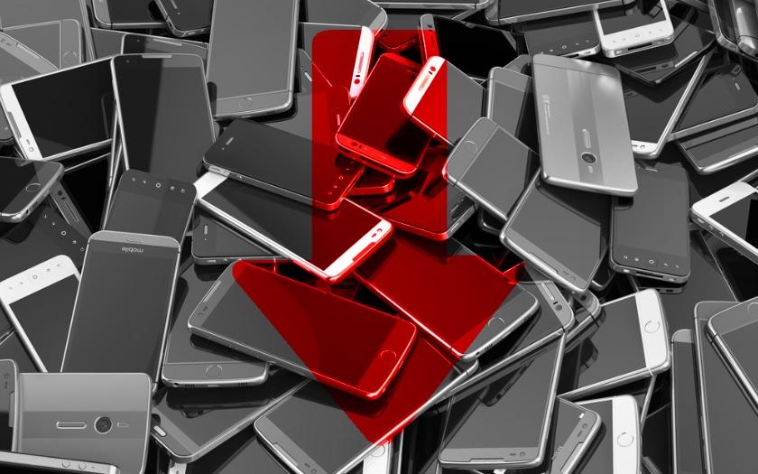 marche smartphone baisse
