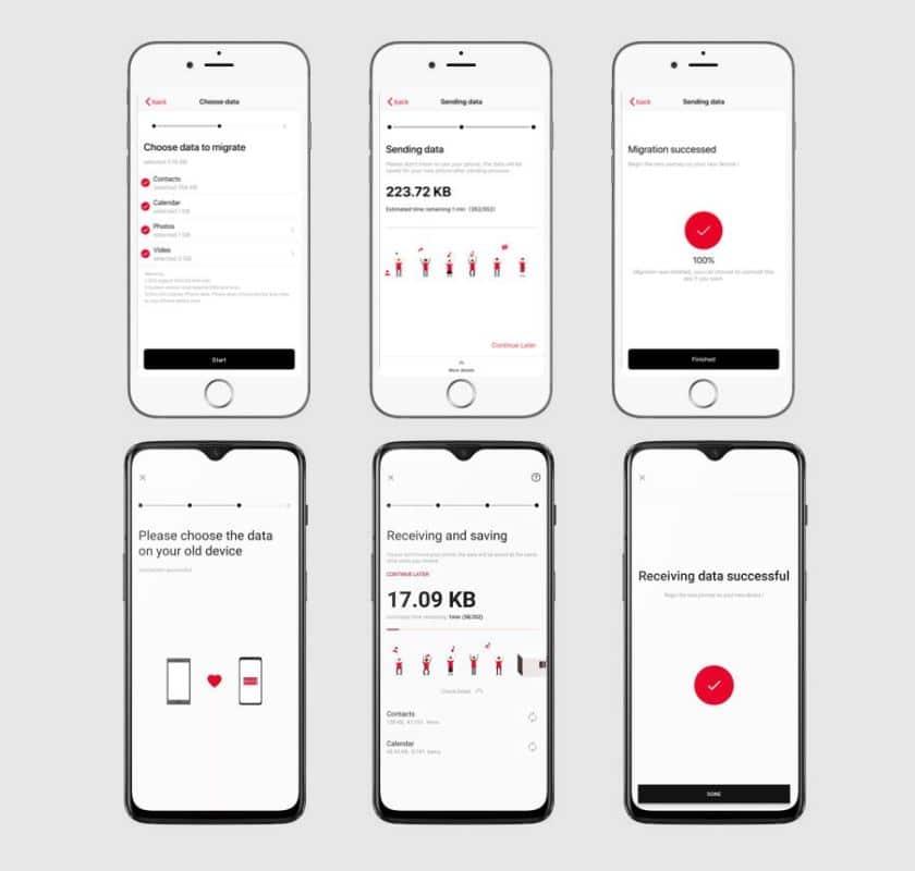 OnePlus Switch permet récupérer données depuis un iPhone téléchargez l'APK