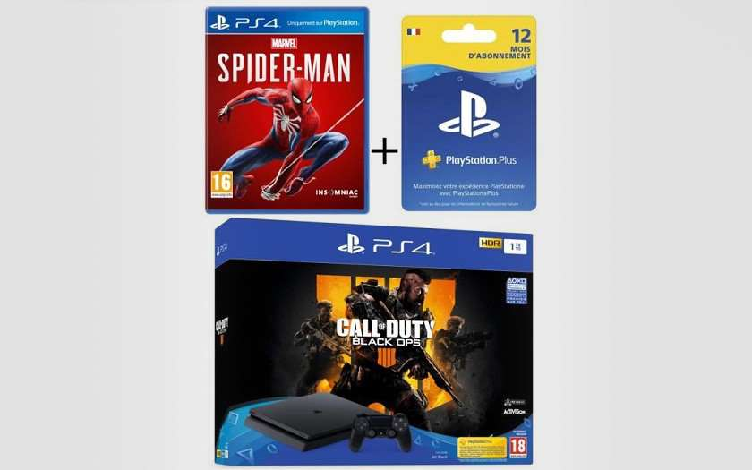 pack ps4 1 to noire 2 jeux call of duty black