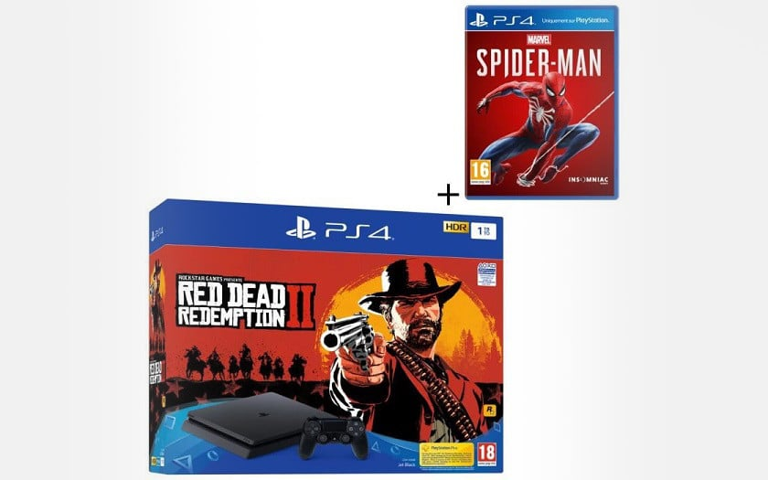 Pack PS4 spiderman red dead redemption black friday