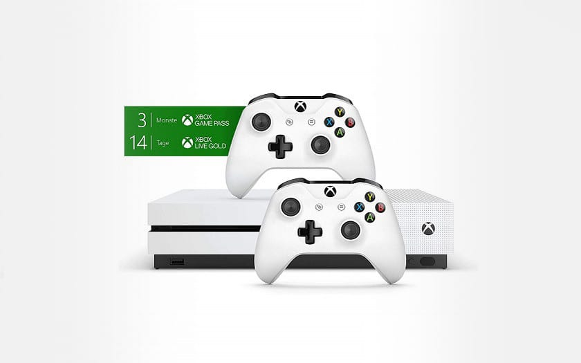 pack xbox one s 1to + 2 manettes + 3 mois Xbox Game Pass