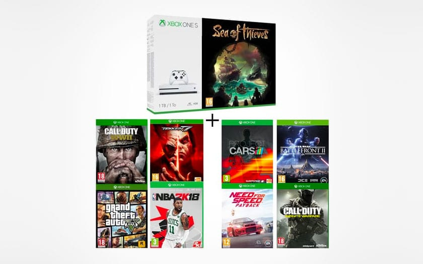 black friday auchan pack xbox one s 1 to gta v 8 jeux 289. Black Bedroom Furniture Sets. Home Design Ideas