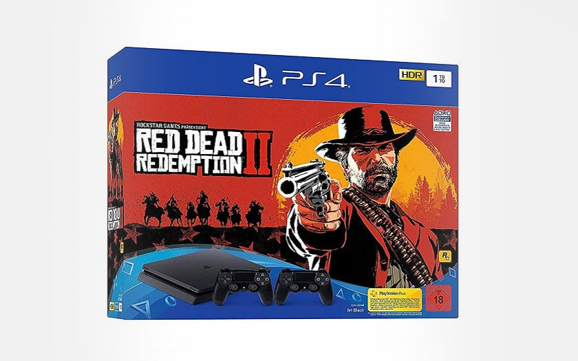 ps4 slim 1To + 2 manettes + red dead redemption 2
