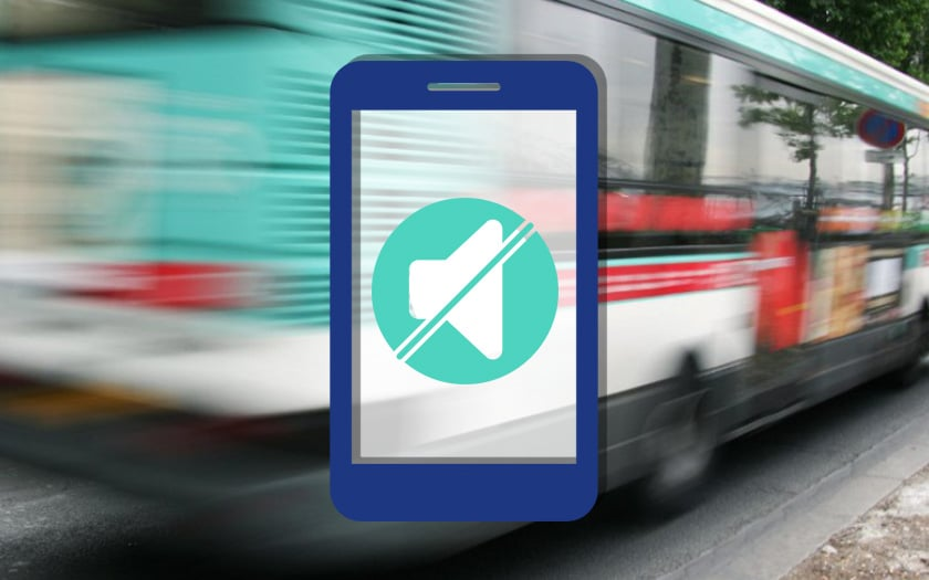 ratp application coupe son smartphone approche bus tram