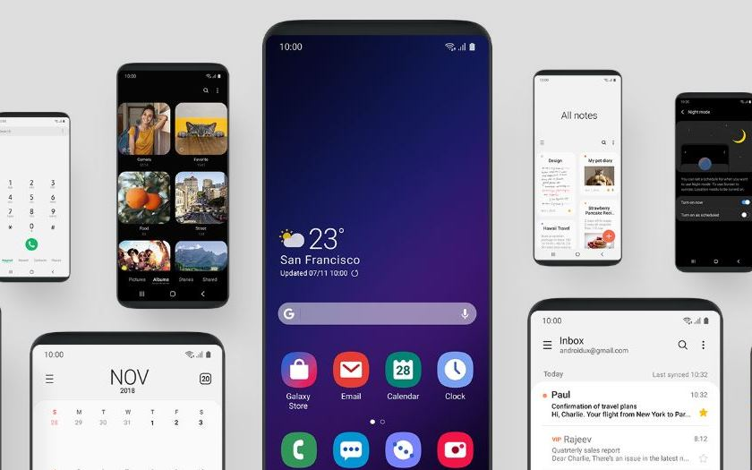 samsung galaxy note 9 S9 interface one ui