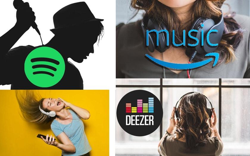 spotify deezer amazon music abonnement 3 mois