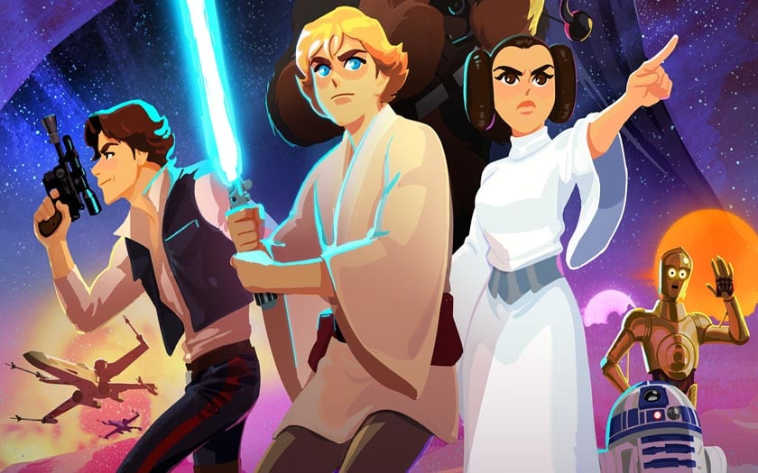 disney publie sur youtube un premier trailer pour star wars galaxy of adventures