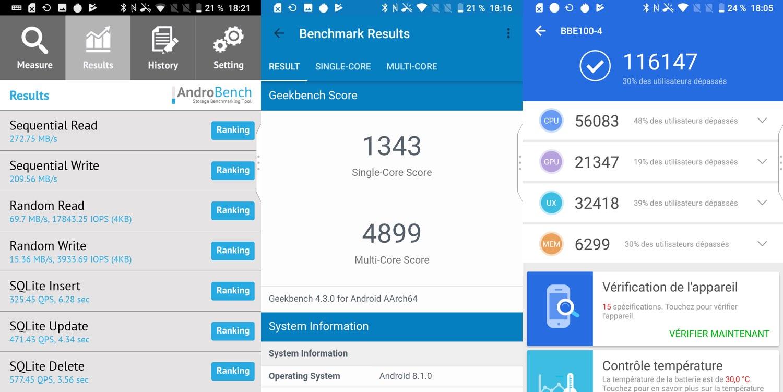 test blackberry key2 le benchmarks
