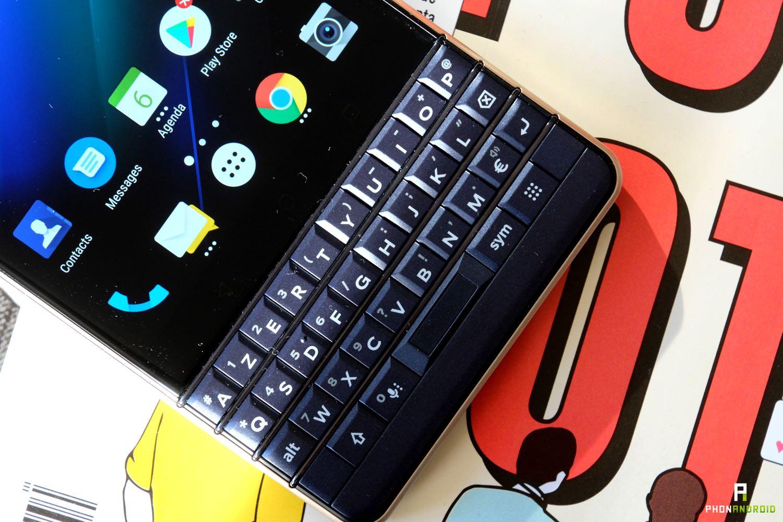 test blackberry key2 le clavier raccourcis