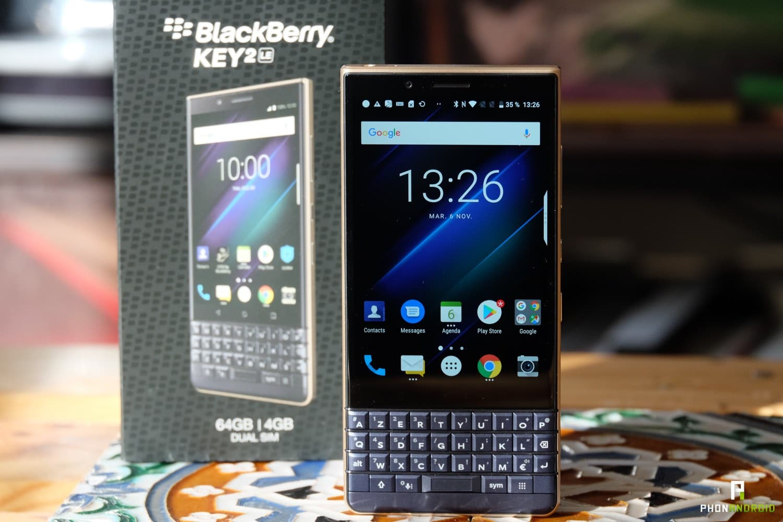 test blackberry key2 le ecran