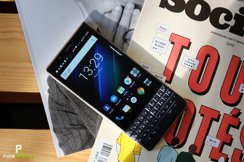test blackberry key2 le fiche technique