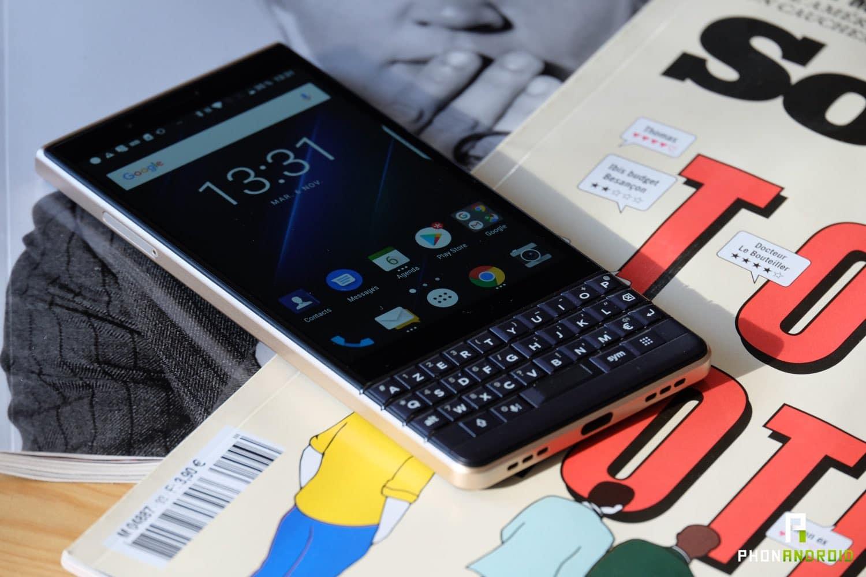 test blackberry key2 le interface