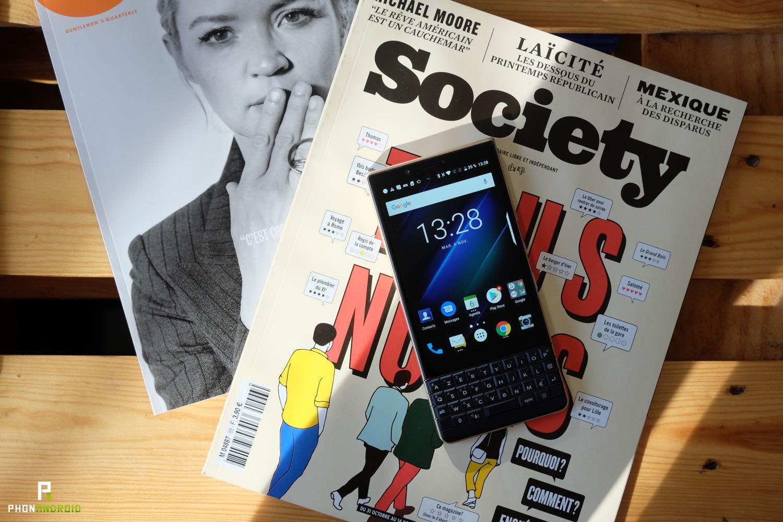 test blackberry key2 le prix