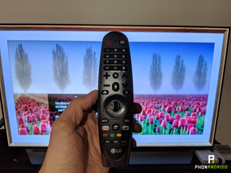 test lg tv 55C8 telecommande