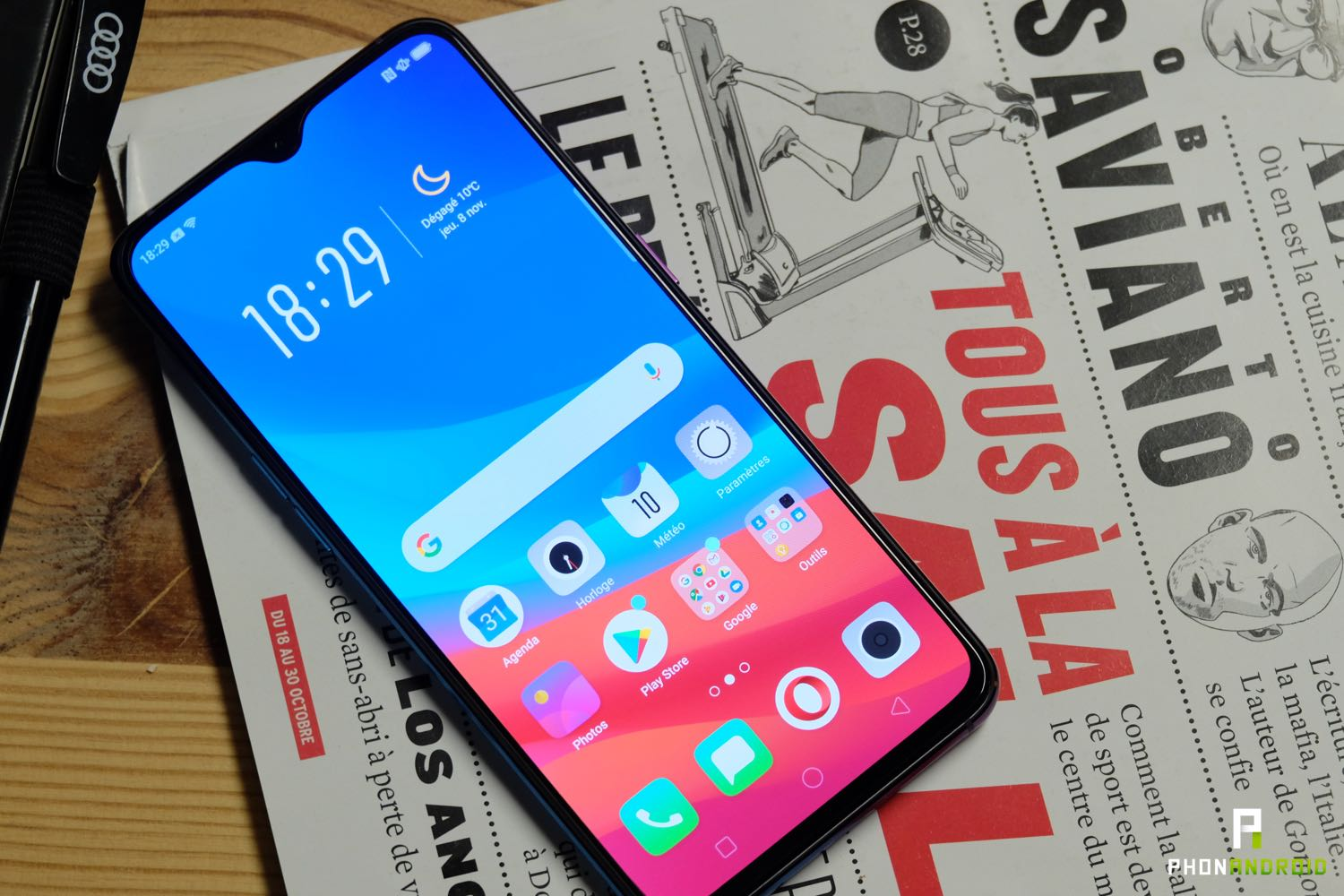 test oppo rx17 pro interface
