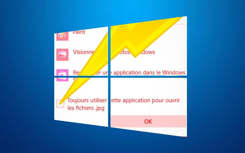 windows 10 association fichiers