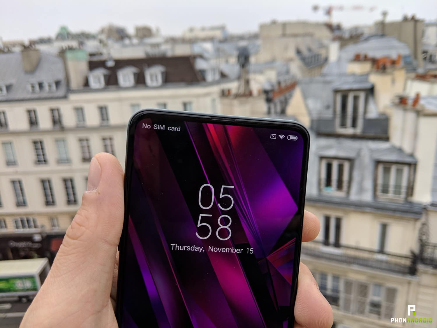 xiaomi mi mix 3 prise en main encoche