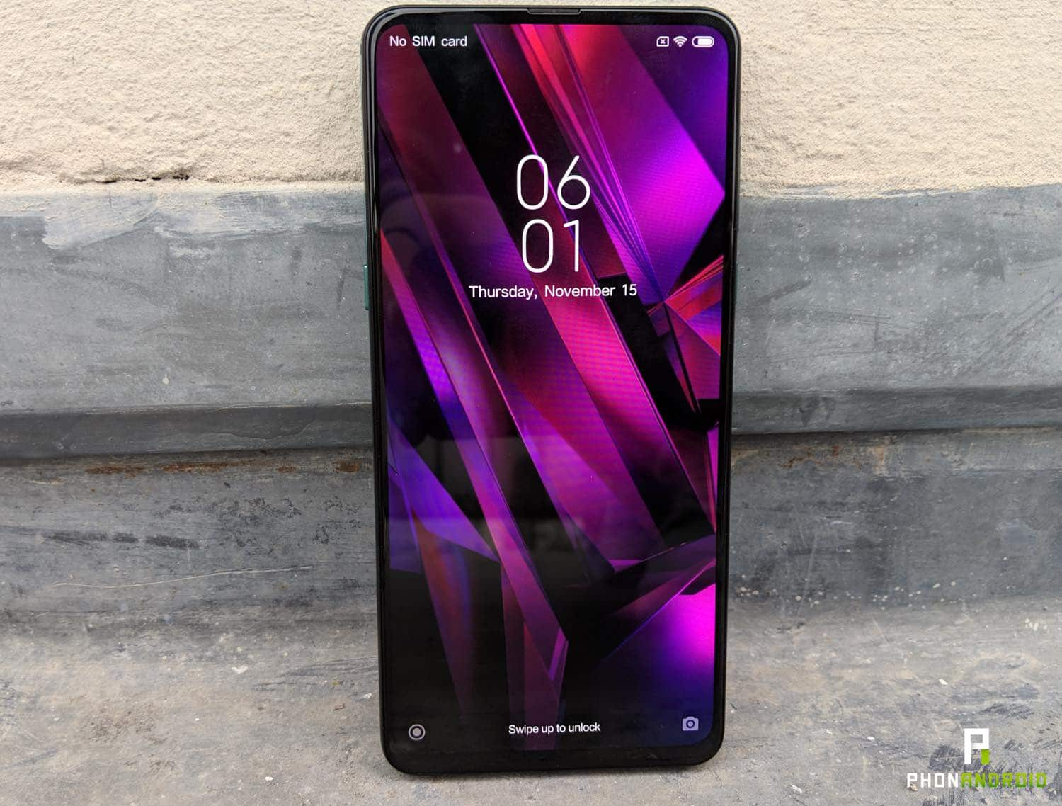 xiaomi mi mix 3 prise en main interface