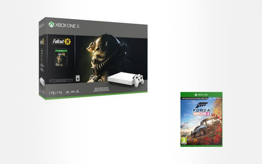 Xbox One X 1 To blanche + Fallout 76 + Forza Horizon 4