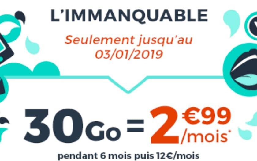 forfait cdiscount mobile 30 Go à 2,99 €
