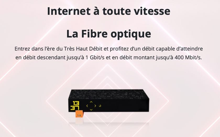 freebox revolution fibre optique debit