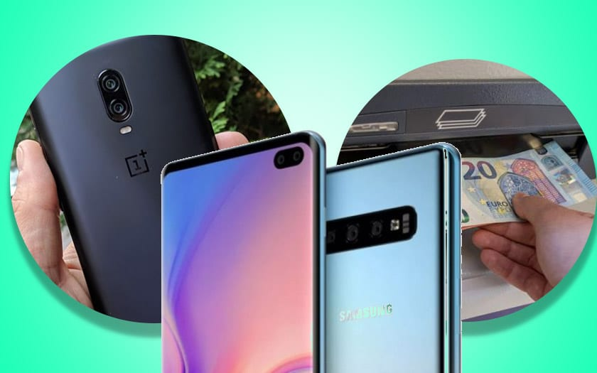 galaxy S10 oneplus 6T dxoamrk distributeurs billets