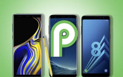 galaxy note 9 galaxy S8 galaxy A8 samsung dates miqes jour android pie
