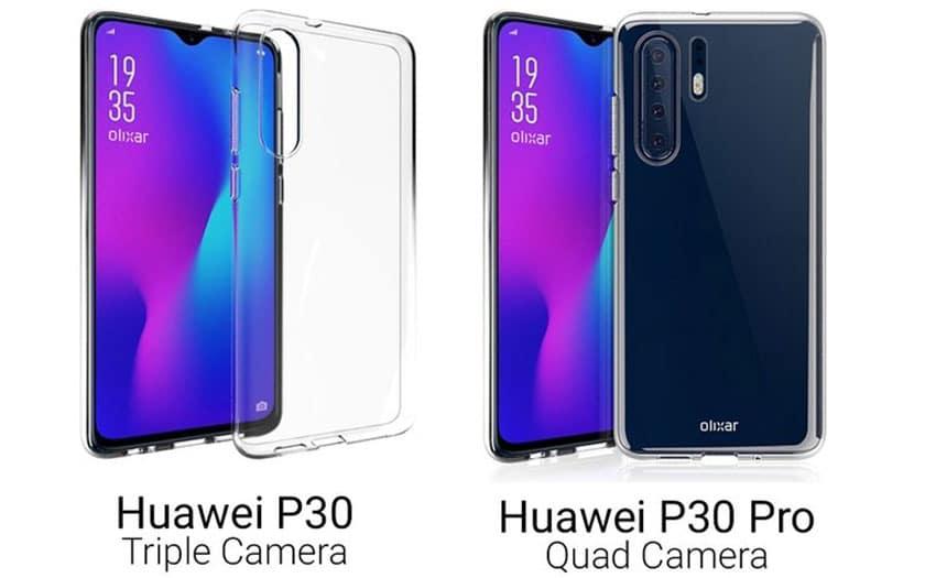 huawei P30 pro rendus