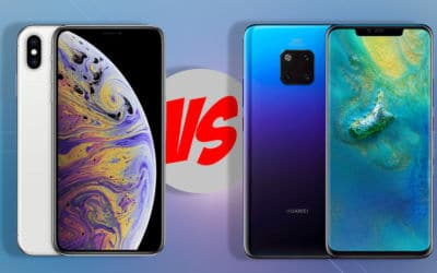 iphone xs max dégomme huawei mate 20 pro speedtest video