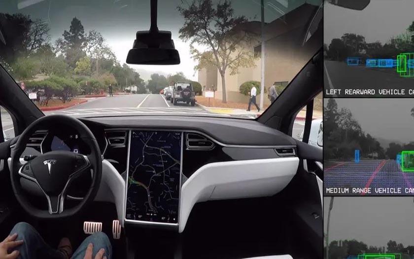 tesla mode autopilote