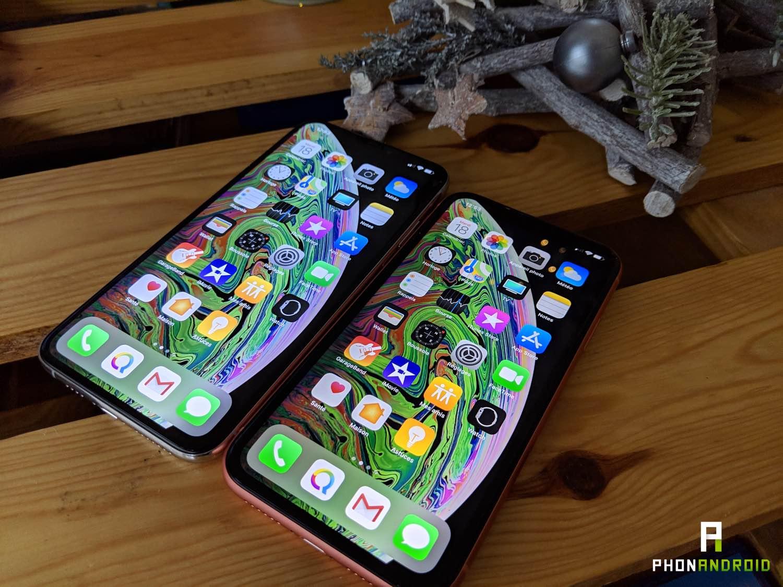 test iPhone xr xs max ecran