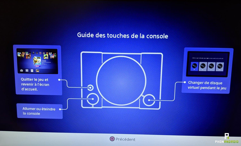 test playstation classique fonctions boutons