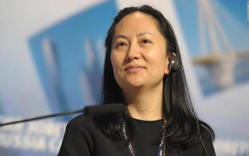 wanzhou meng directrice financière de huawei