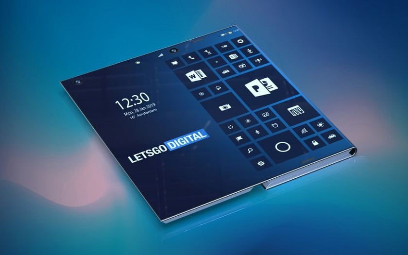 Intel smartphone pliable sous Windows