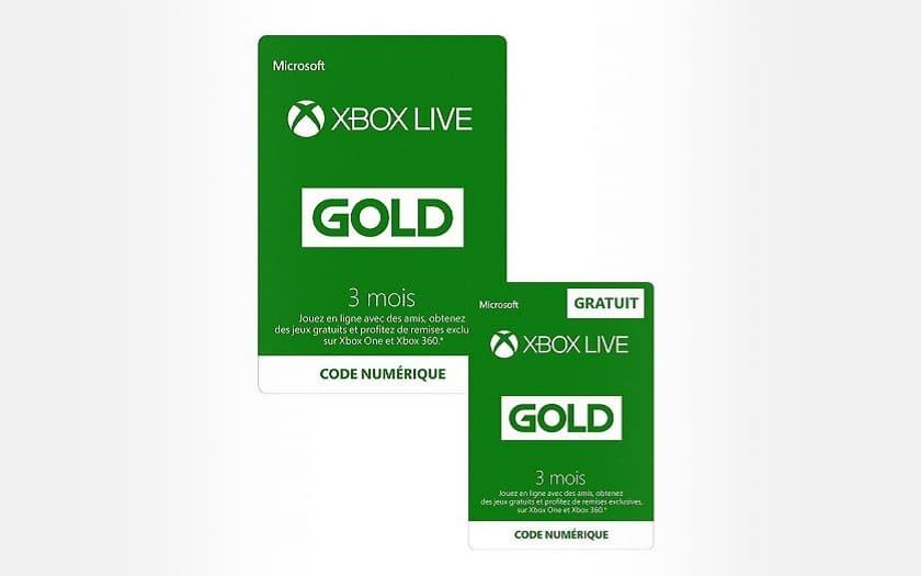 abonnement xbox live gold 3 mois + 3 mois