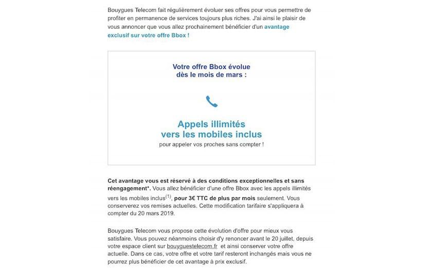 bouygues telecom augmente facture abonnés bbox