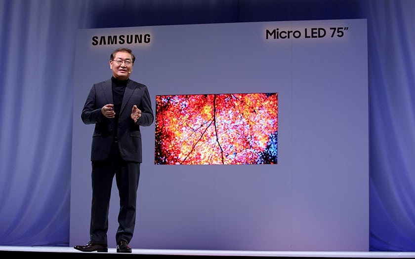 ces 2019 samsung tv microled 4K