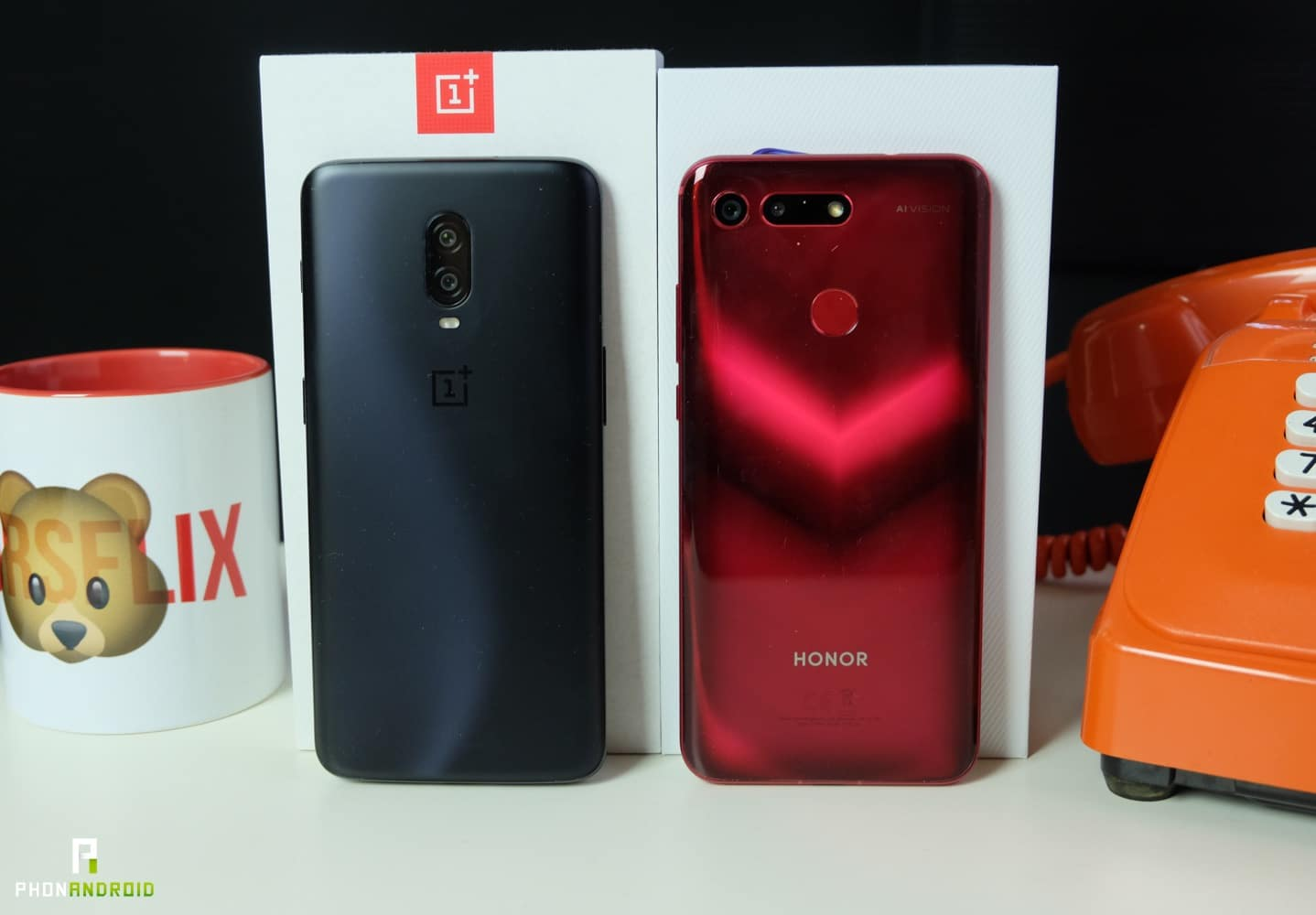 comparatif honor view 20 OnePlus 6t