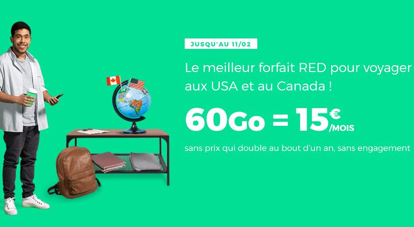 forfait SFR Red 60 Go a 15 euros
