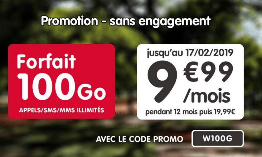 forfait sans engagement nrj mobile 100 go