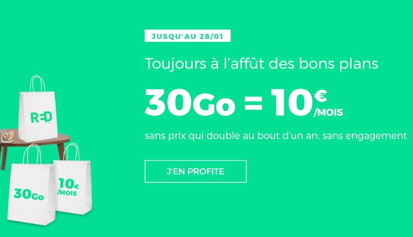 Forfait SFR Red 30 Go à 10 € / mois